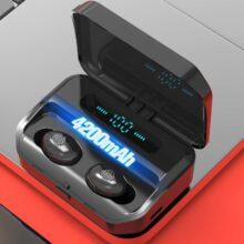 Беспроводные наушники Eaphones, Bluetooth 5,0, 4200 мАч, TWS, чехол для зарядки, IPX7, водонепроницаемые, 9D, стерео, сенсорное управление