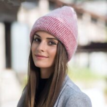 Новая простая Шапка-бини из кроличьего меха для женщин Зимняя теплая шерстяная шапка Gorros женская шапка