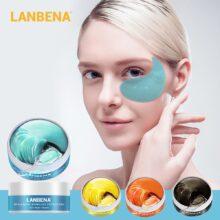 Антивозрастная увлажняющая маска для глаз LANBENA, Золотая маска-ретинол с коллагеном для уменьшения темных кругов и пышных глаз