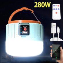 Светодиодный светильник для кемпинга, USB портативный светильник, Зарядка телефона, Солнечный фонарь для кемпинга, перезаряжаемая лампа, водонепроницаемая уличная походная Рыбалка