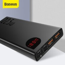 Baseus 20000mAh Power Bank с PD3.0 быстрой зарядкой для iPhone Quick Charge 4,0 Supercharge Powerbank для Xiaomi Samsung