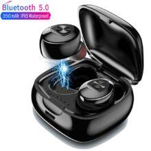 Беспроводные наушники TWS, Bluetooth 5,0, IPX5 водонепроницаемые спортивные наушники с 3D стереозвуком и зарядным устройством