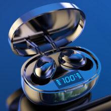 Беспроводные наушники TWS Bluetooth 5,0, мини-наушники, стерео, бас, светодиодный дисплей, шумоподавление, спортивные водонепроницаемые наушники-вкладыши