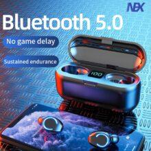 Мини TWS Bluetooth 5,0 наушники беспроводные наушники 9D Hifi стерео спортивные водонепроницаемые беспроводные наушники гарнитура с микрофоном