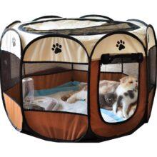 Портативный дом perros большие маленькие собаки уличная собачья клетка для дома для складного внутреннего манеж для щенков кошек домашних собак кровать палатка