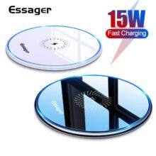 Essager 15 Вт Qi Беспроводное зарядное устройство для iPhone 11 Pro Xs Max X Xr 8 Индукционная быстрая Беспроводная зарядка Pad для Samsung S20 Xiaomi mi 9