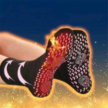 Самонагревающиеся магнитные носки для женщин и мужчин, Самонагревающиеся Носки, удобные зимние теплые массажные носки