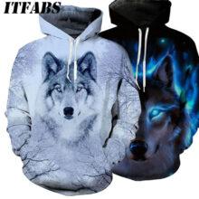 Осенне-зимний свитер для женщин и мужчин с изображением животных и графическим толстовка с 3D принтом в виде волка, Модный пуловер с длинными рукавами 2020
