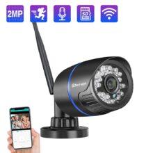 Камера видеонаблюдения Techage XMeye, 1080 пикселей, камера наблюдения есть функция ночного видения, односторонний аудиосвязь, поддержка Wi-Fi, P2P, ONVIF, слот под микро-SD карту, макс. 64 Гб