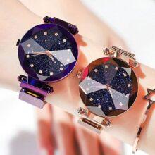 Женские магнитные часы Звездное небо роскошные женские часы модные бриллиантовые Женские кварцевые наручные часы Relogio Feminino Zegarek Damski