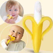 Детская силиконовая учебная зубная щетка без BPA, безопасный Прорезыватель для зубов, детский Прорезыватель для зубов, игрушки для детей, подарок для жевания, оптовая продажа