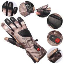 Унисекс Самонагревающиеся Углеродные волоконные переносные перчатки для бега, катания на лыжах, езды на велосипеде, охоты, электрические перчатки с подогревом