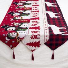 Рождественский подарок, льняной снеговик, настольный бегун, Рождественский Декор для дома 2020, рождественские украшения, новогодний декор, 2021 Navidad