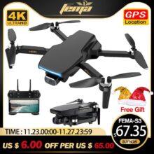 FEMA S3 GPS, беспилотные летательные аппараты с Камера 4k HD 5G Wi-Fi Дрон с бесщеточным двигателем FPV Дрон 25 минут rc расстояние 1 км Профессиональный Квадрокоптер с дистанционным управлением PK EX5