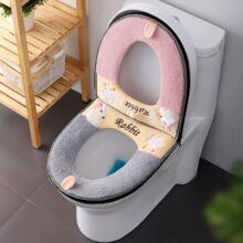 Универсальный теплый мягкий моющееся сиденье для унитаза крышка коврик для ванной комнаты, зимние Водонепроницаемый туалетный коврик сиденье для унитаза аксессуары