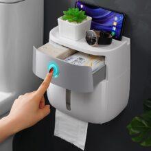 Портативный держатель для туалетной бумаги, пластиковый водонепроницаемый диспенсер для бумаги для туалета, домашний контейнер для хранения, аксессуары для ванной комнаты