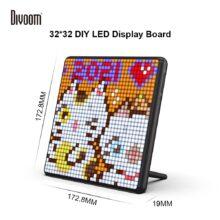 Divoom Pixoo Max цифровая фоторамка с 32*32 Пиксельной графики программируемый светодиодный Дисплей доска, подарок на Новый год для детей «Человек-паук», Домашний Светильник Настенный декор