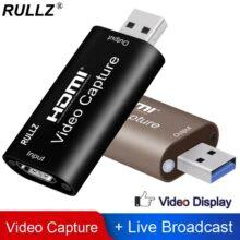 Rullz 4K видео карта захвата USB 3,0 2,0 HDMI видео Захват записи коробка для PS4 игра dvd-видеокамеры Камера Запись прямые трансляции