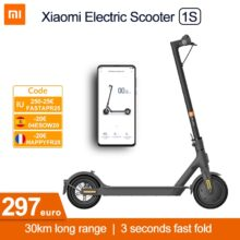 Xiaomi Mi электрический скутер 1S MIJIA Смарт e самокат электрический скейтборд мини взрослых Электрический мотор складной ХОВЕРБОРДА Escooter M365 обновления 30 км